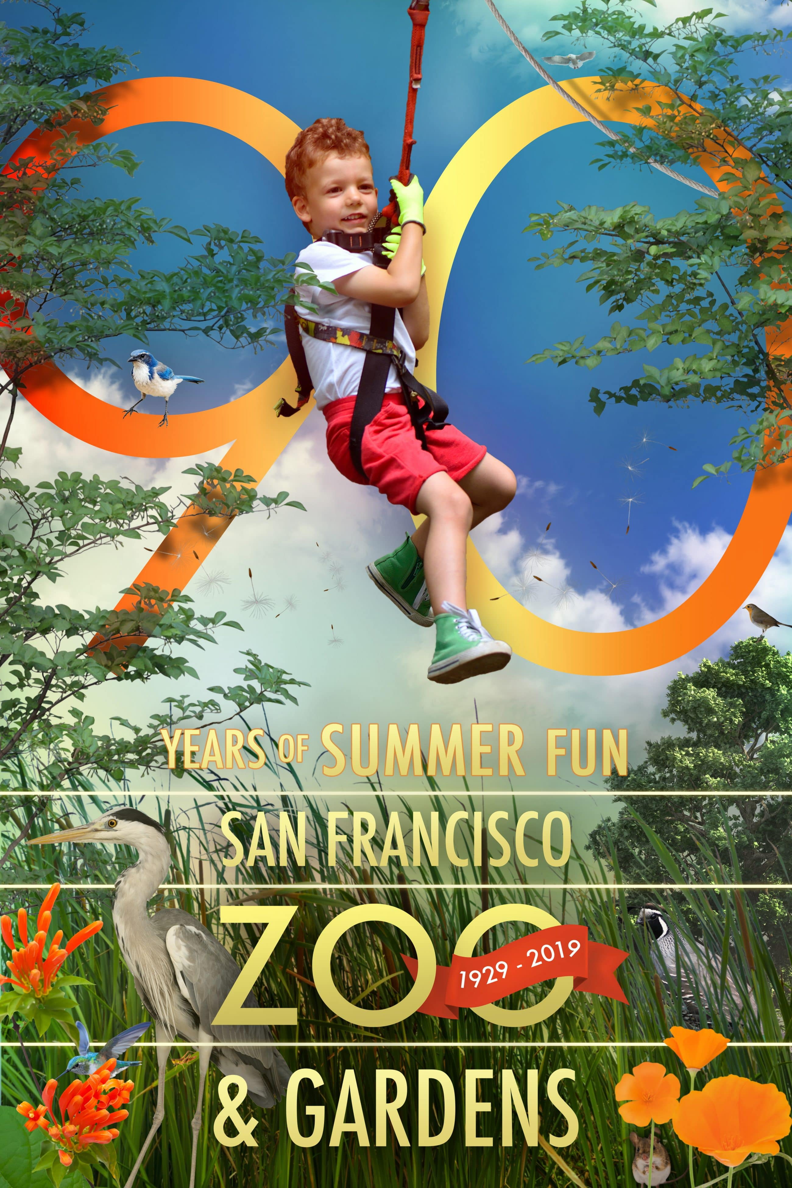 San Francisco Zoo 90th Anniversary Campaign